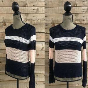 Fate Tri Color Fishnet Sweater